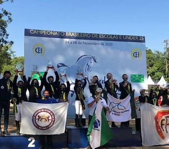 <b>Equipe FEERJ - VICE CAMPEÃ Brasileira por equipe série Principal - Campeonato Brasileiro de Escolas 2020</b>