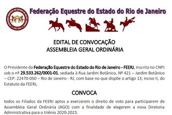 <B>EDITAL DE CONVOCAÇÃO - ASSEMBLEIA GERAL ORDINÁRIA</B>