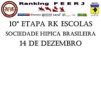 Programa - 10� ETAPA DO RANKING ESCOLAS FEERJ 2014 - SHB � 14 de dezembro:
