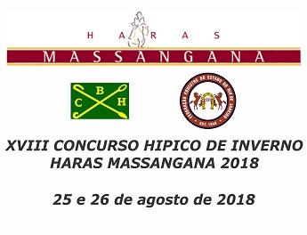 <b>XVIII CONCURSO HIPICO DE INVERNO DO HARAS MASSANGANA 2018 - CSIe</b>
